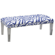 St. Augustine Button Tufted Bench