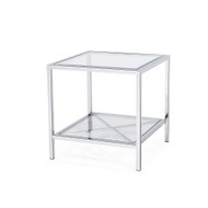 Gardner End Table - Silver