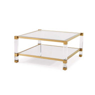 Santa Monica Square Cocktail Table - Antique Gold