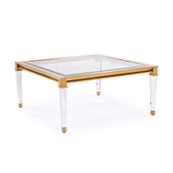 Presley Square Cocktail Table - Antique Gold