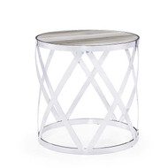 Tribeca Side Table - White