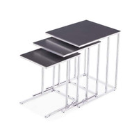 Midtown 3 Piece Nesting Tables - Charcoal