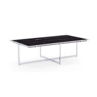 Lenox Marble Top Cocktail Table - Silver