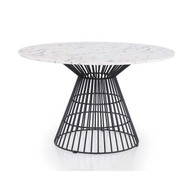 "Greenwich Marble Top 47"" Dining Table - Black"