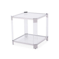 Burbank End Table - Silver