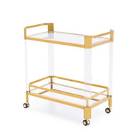 Newport Bar Trolley - Antique Gold