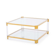 Carson Square Cocktail Table - Antique Gold
