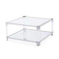 Carson Square Cocktail Table - Silver