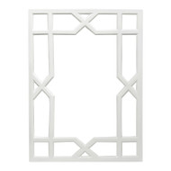 Vero White Lacquer Treills Mirror