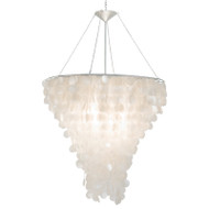 Large Round Capiz Shell Chandelier