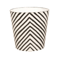 Oval Wastebasket Cream And Black Zebra