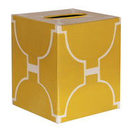 Kleenex Box Yellow And Cream Pattern