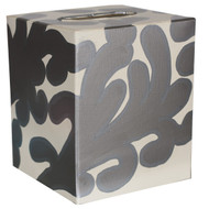 Kleenex Box Silver And Cream Pattern