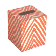 Kleenex Box Orange And Cream Zebra