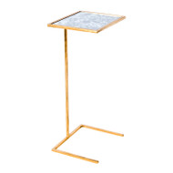 Cigar Table Gold Leafed With Antique Mirror Top