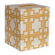Kleenex Box Cream With Yellow Squares