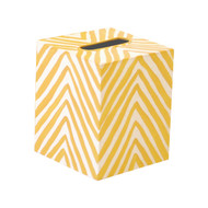 Kleenex Box Yellow And Cream Zebra