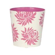 Oval Wastebasket Pink Floral
