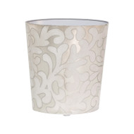 Oval Wastebasket Lavendar And Silver