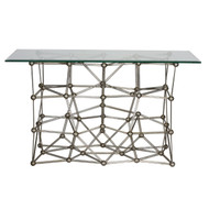 Molecule Silver Leaf Iron Console Table Base Only