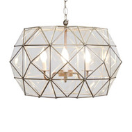 Rozz Tin And Clear Glass Chandelier