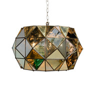 Rozz Antique Mirror Faceted Pendant