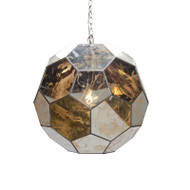 Knox Small Antique Mirror Faceted Ball Pendant