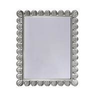 Eliza Mirror With Scalloped Edge Frame In Silver Leaf