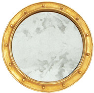 Worlds Away Federal Gold Leaf Federal Style Frame With Antique Mirror