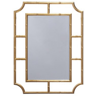 Marian Mirror With Bamboo Detail Frame In Gold Leaf