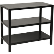 2 Shelf Side Table - Hand Rubbed Black