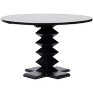 "48"" Zig Zag Dining Table - Hand Rubbed Black"