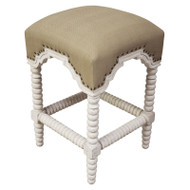 Abacus Counter Stool - White Wash