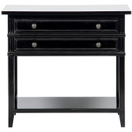 Colonial 2 Drawer Side Table - Distressed Black
