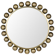 Cooper Mirror - Antique Brass Finish