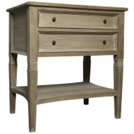 Oxford 2 Drawer Side Table - Weathered