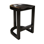 Saddle Counter Stool - Hand Rubbed Black