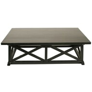 Sutton Coffee Table - Hand Rubbed Black