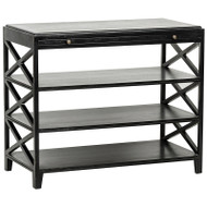 Sutton Criss-Cross Side Table - Hand Rubbed Black