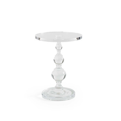 All Clear - Acrylic Pedestal Side Table