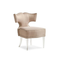 Facet-Nating - Glamorous Accent Chair with Acrylic Legs