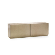 The Low Down - Contemporary Taupe Silver Leaf Media Cabinet