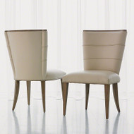 Adelaide Side Chair - Beige Leather