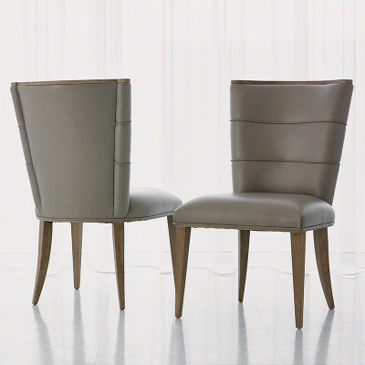 Adelaide Side Chair - Grey Leather
