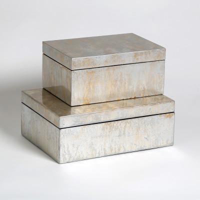 Champagne Silver Leaf Box - Lg
