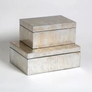 Champagne Silver Leaf Box - Sm