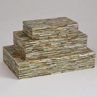Chiseled Bone Box - Forest - Lg