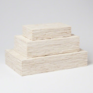 Chiseled Bone Storage Box - Sm