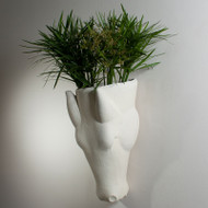 Equus Wall Vase - Limestone Finish