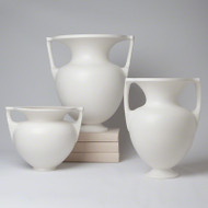 Grecian Amphora - Matte White - Sm